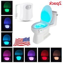 2-Pack: Toilet Night Light 8-Color LED Automatic Motion Sens