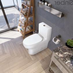 "Sinber 29'' x 14'' x 28"" Cotton White One Piece Bathroom Toi"