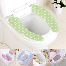 2PCS Bathroom Toilet Seat Closestool Washable Soft Warmer Ma