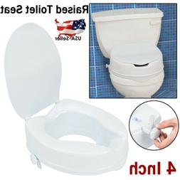 4 Inch Raised Toilet Booster Seat Elevated Toilet Riser Fit