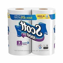 4 Rolls Scott 1000 Sheets Per Roll Giant Toilet Paper Bathro