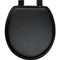 Black Padded Soft Toilet Seat - Round
