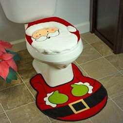 christmas holiday bathroom santa claus