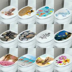 DIY 3D Toilet Lid Seats Cover Wall Stickers Bathroom Decal M