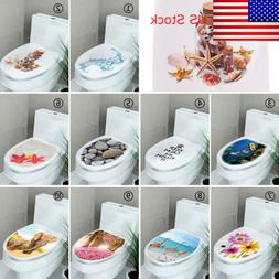 DIY Toilet Lid Seats Cover Wall Stickers Bathroom Decal Mura