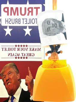 Donald Trump Toilet Brush And Holder With Donald Trump Toile