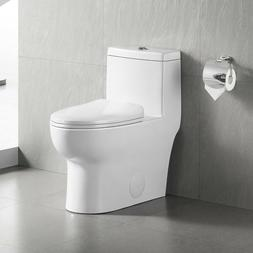 DeerValley Modern Dual Flush Elongated One Piece Toilet With