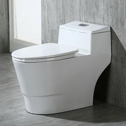 Woodbridge Dual Flush Elongated One Piece Toilet with Soft C