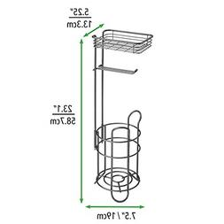 mDesign Freestanding Metal Wire Toilet Paper Roll Holder Sta