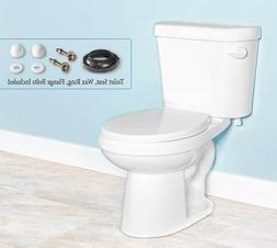 Gele 4624 Standard Height Round Front Two Piece Toilet w/ Sl