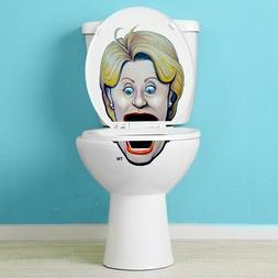 Hillary Clinton Vinyl Toilet Lid Decal / Sticker Set by Bowl