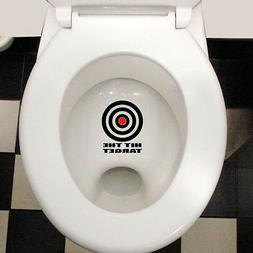 HIT THE TARGET FUNNY COOL WATERPROOF TOILET LID WALL STICKER