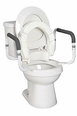 """MOBB Home Health Care 4 1/2"""" Foldable Hinged Raised Toilet S"""