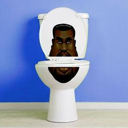 Kanye West Vinyl Toilet Lid Decal / Sticker Set by BowlFaced