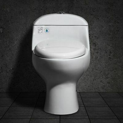 Modern Bath Vitreous China 1-Piece Dual Flush Elongated Toil