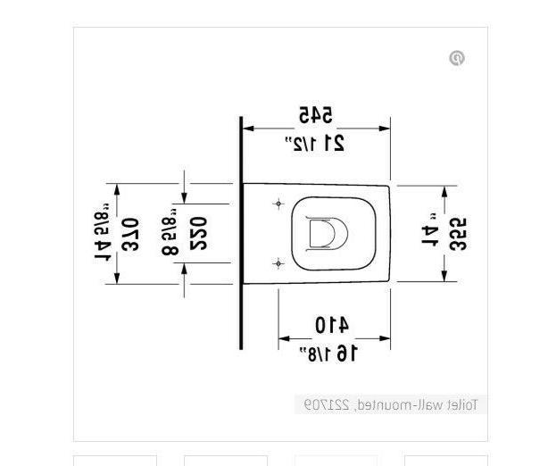 Duravit 221709 Vero Toilet wall-mountedwashdown - White