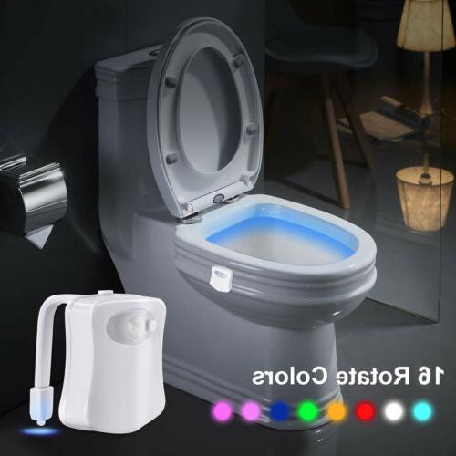 2Pcs Toilet Motion Activated Glow Lamp