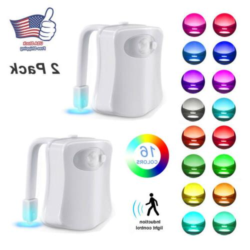 2pcs toilet night light motion activated 16