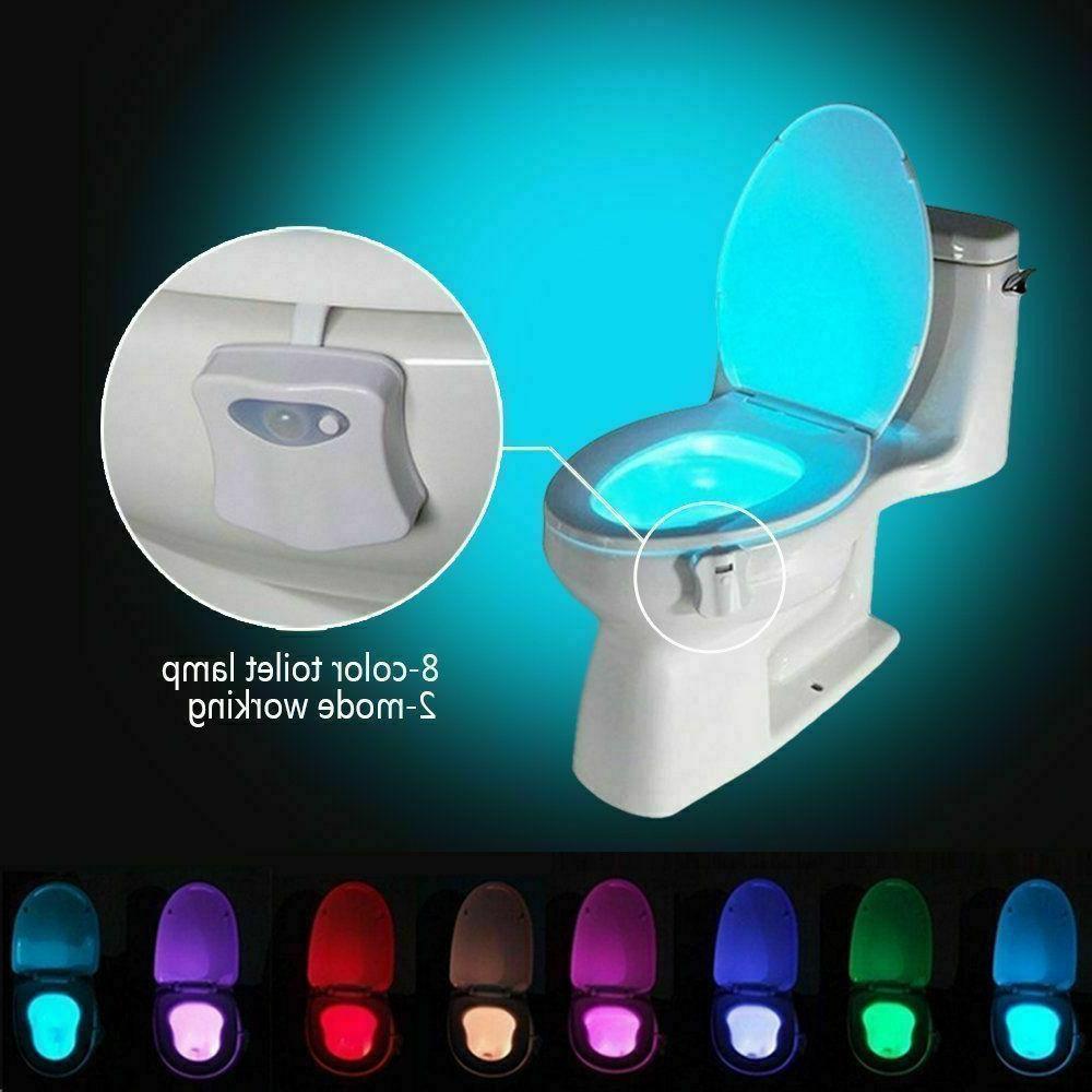 3 PCS Toilet Light Sensor Bathroom Bowl 8 Color