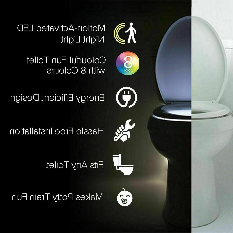 3 PCS Toilet Light Motion 8 Color