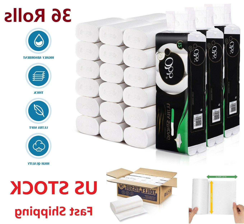 36 rolls 4ply toilet paper towels bulk