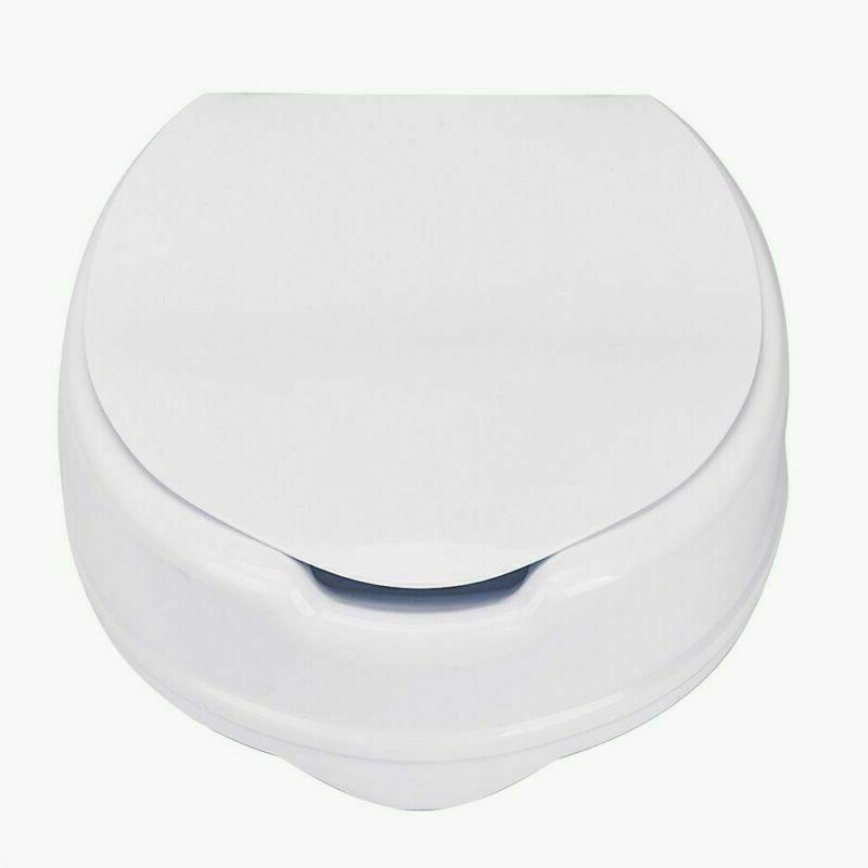 "4""  Adjustable Height Medical Elevated Toilet Seat Riser Lif"