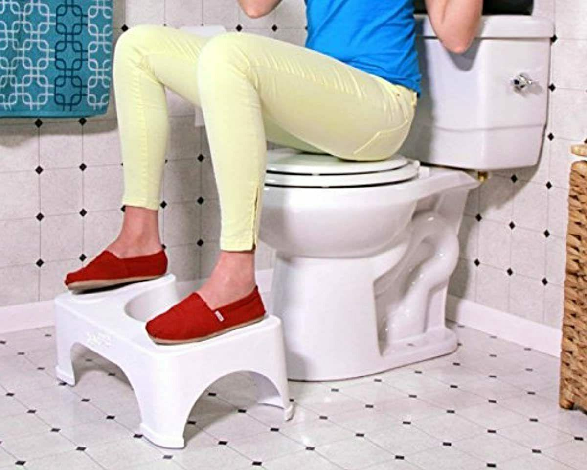 "7"" Toilet Squatty Proper Posture Step Go Potty Squat Bathroom Home Health"