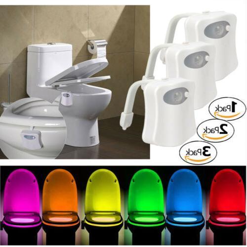 Toilet Night Light Color LED Sensor bowl Seat Lamp