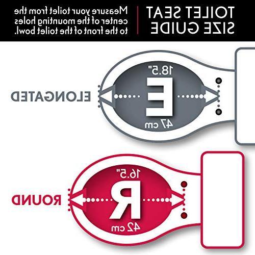 Mayfair Reflections Toilet Seat Chrome Hinges, Round, Walnut Veneer, 9601CP 888