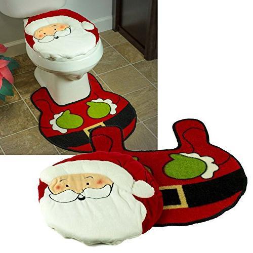 Christmas Bathroom Claus Seat and 2 Set