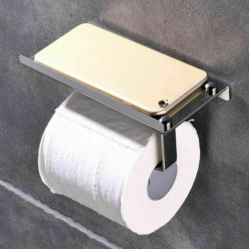 Chrome Wall Mounted Bathroom Toilet Paper Holder With Temp P