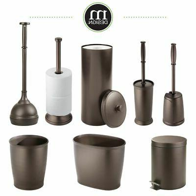 mDesign Compact Toilet and Holder,