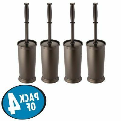 mDesign Plastic Toilet Bowl Brush and Holder,