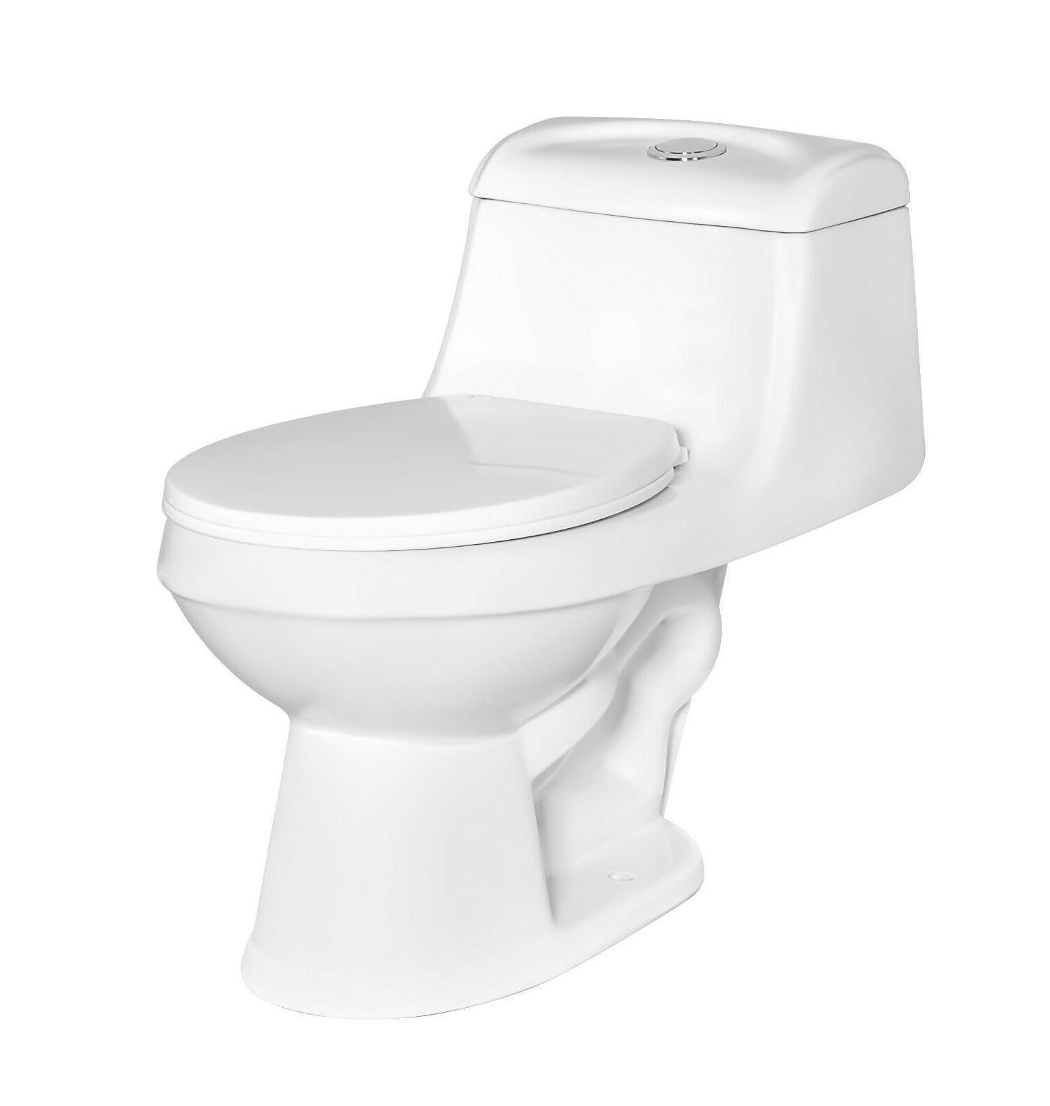 deville 6812w round front one piece toilet