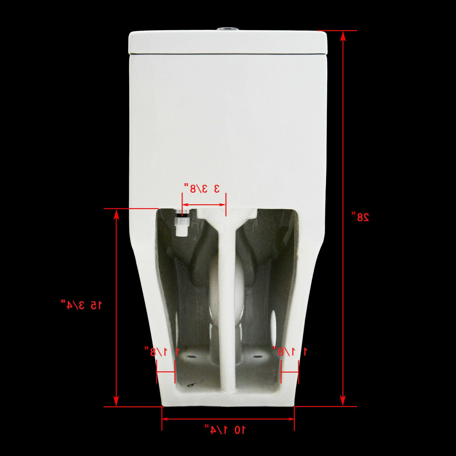 DeerValley Dual-Flush Elongated Porcelain