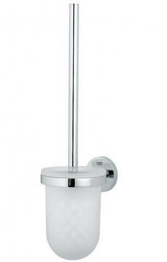 essentials toilet brush holder set wall mounted