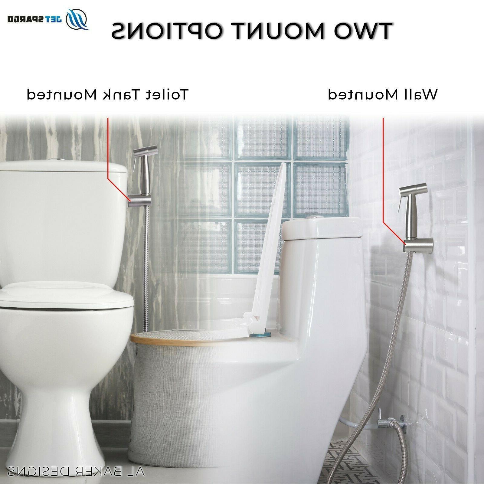 JET SPARGO Held Toilet Bidet Sprayer Shower Adaptor