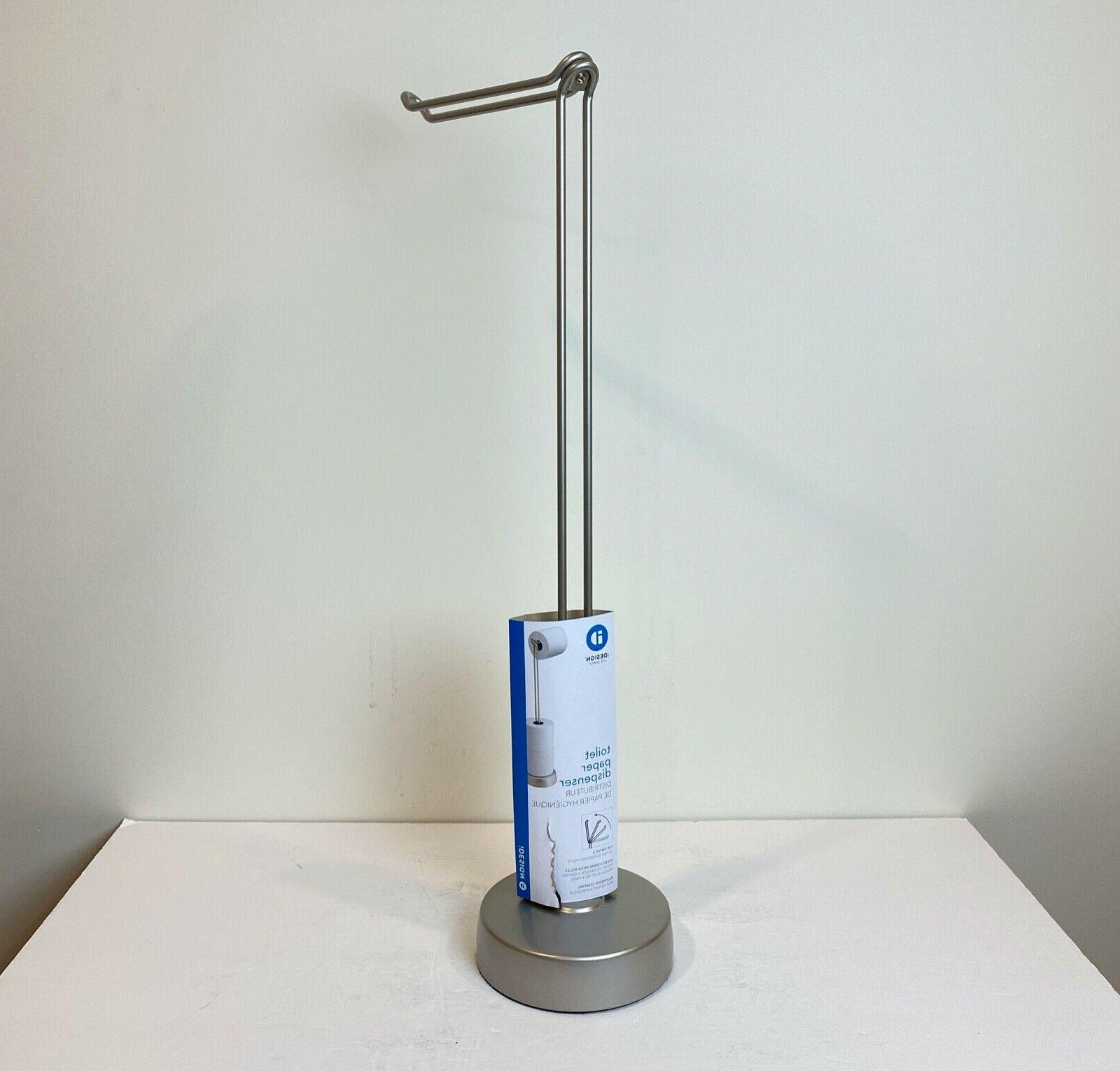 interdesign free standing toilet paper holder dispenser