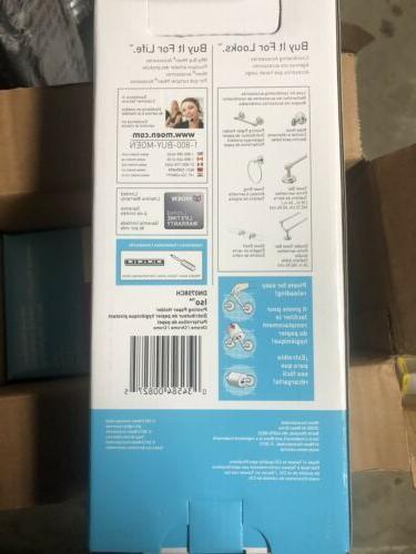 iso chrome toilet paper holder pivoting reload