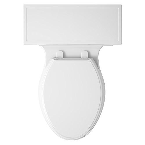KOHLER K-6428-0 Comfort Compact Toilet with Flush Technology and Lever,