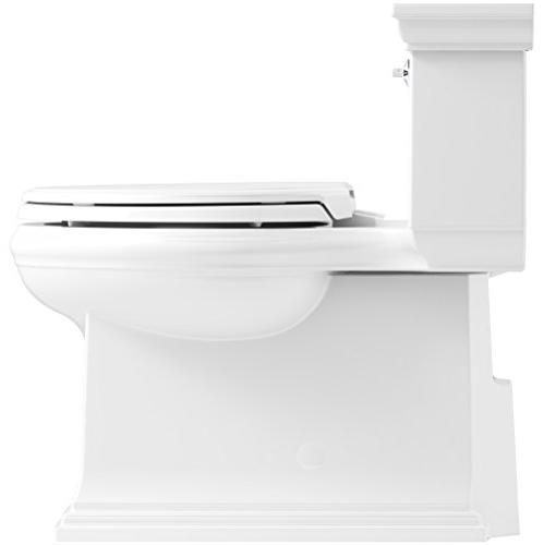 KOHLER K-6428-0 Comfort Height Skirted Compact 1.28 GPF Toilet with Technology Lever,