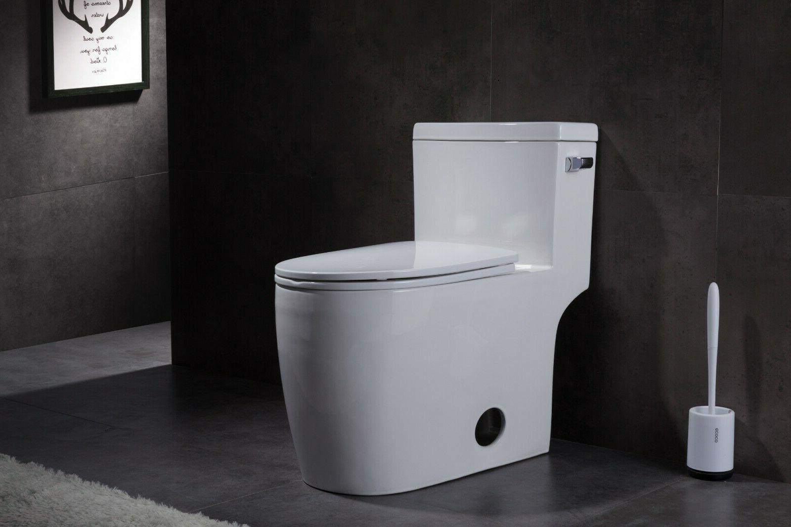 Marino 43295 Elongated One Piece Toilet w/ Quiet Close Seat,