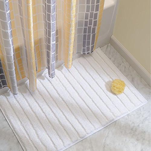 mDesign Soft Bathroom Vanity, Bathtub/Shower, White