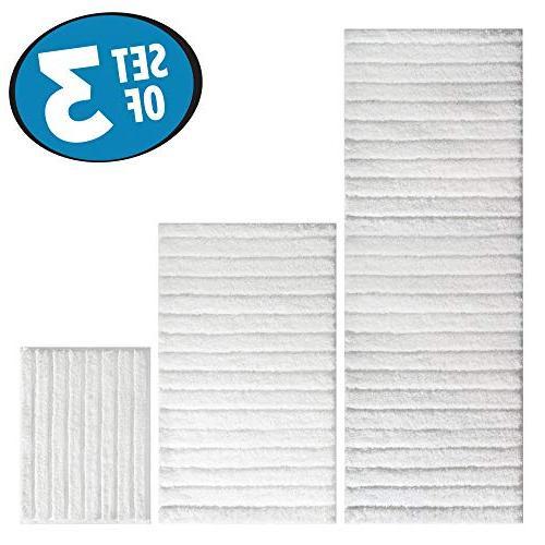 mDesign Soft Microfiber Bathroom Mat/Rug Vanity, Bathtub/Shower, Room - 3, White