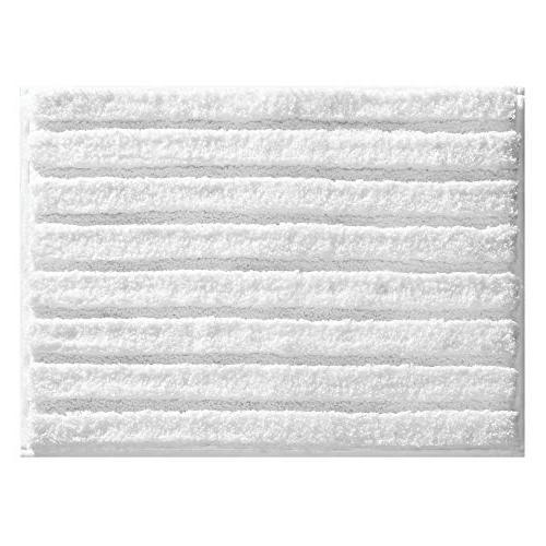 mDesign Bathroom Mat/Rug Vanity, - Set White