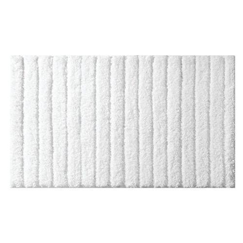 mDesign Bathroom Mat/Rug for Vanity, Bathtub/Shower, Room - Set White