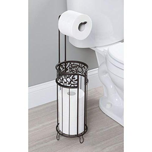 mDesign Toilet Paper Roll and Dispenser for Reserve - for Bathroom Storage Organizing -