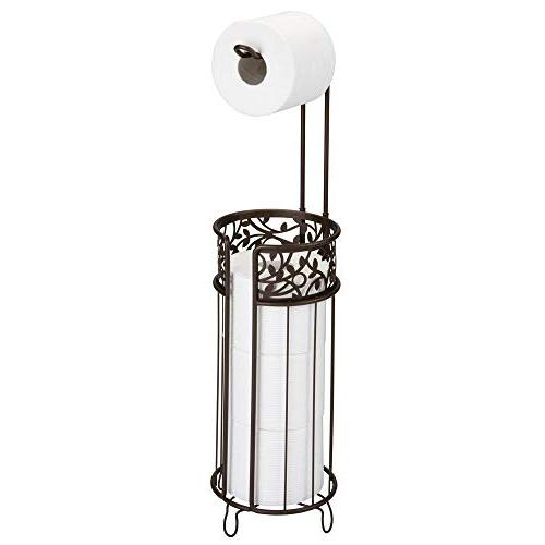 Paper Roll Stand for 3 of Reserve for - Holds Mega Rolls, Floral