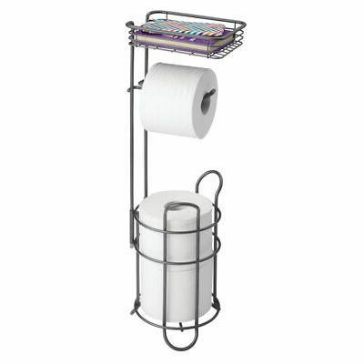 metal toilet paper holder stand dispenser shelf