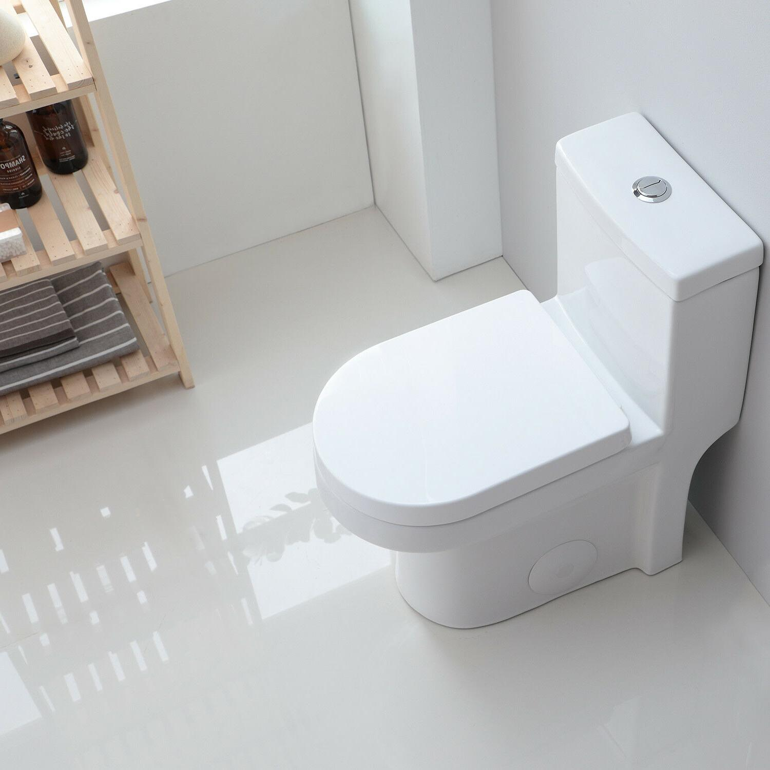 HOROW Mordern One Toilet with Soft Closing Seat Toilet